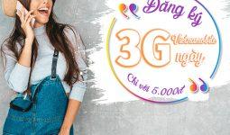 Cách đăng ký 3G Vietnamobile 1 ngày chỉ với 5.000đ