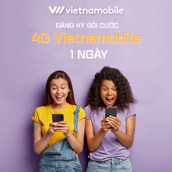 Cách đăng ký 4G Vietnamobile 1 ngày 4k, 5k, 6k ưu đãi khủng