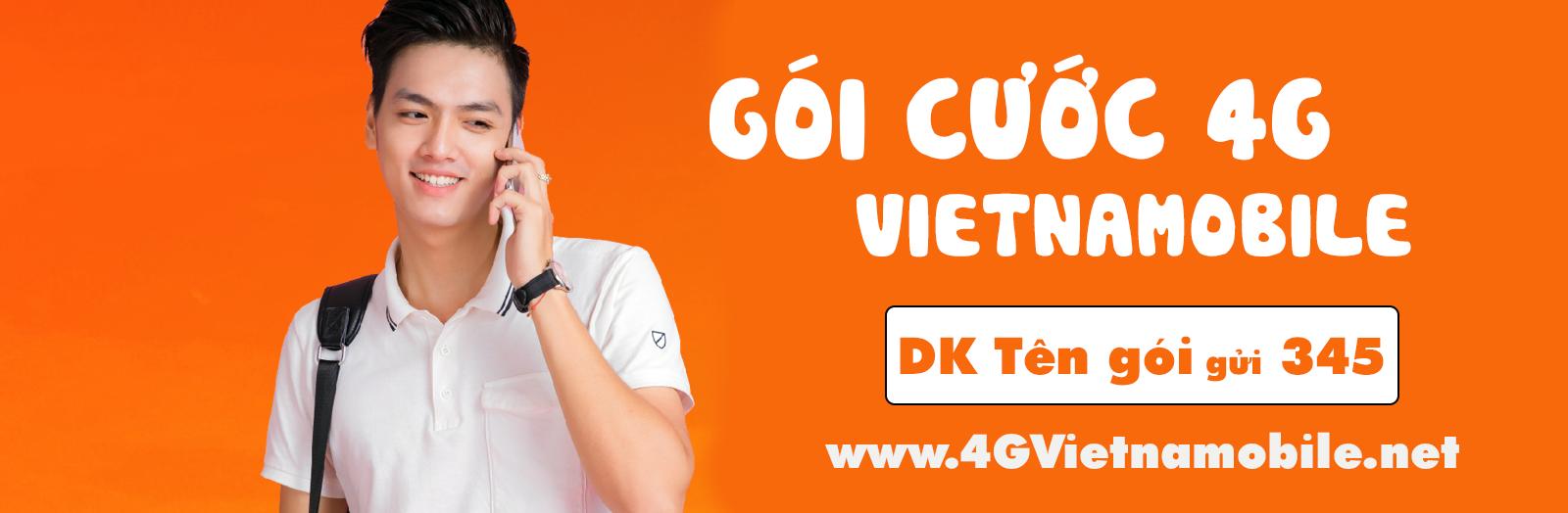 Giá các gói cước 4G Vietnamobile ưu đãi khủng nhất 2021