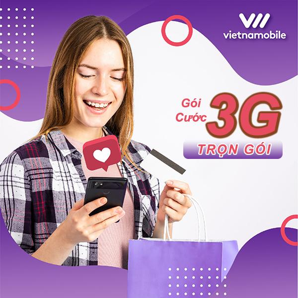 Cách đăng ký 3G vietnamobile trọn gói không giới hạn dung lượng