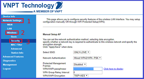Cách đổi password wifi VNPT