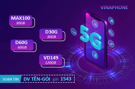 Đăng ký 5G Vinaphone 1 ngày, 1 tháng, năm tốc độ nhanh nhất Việt Nam