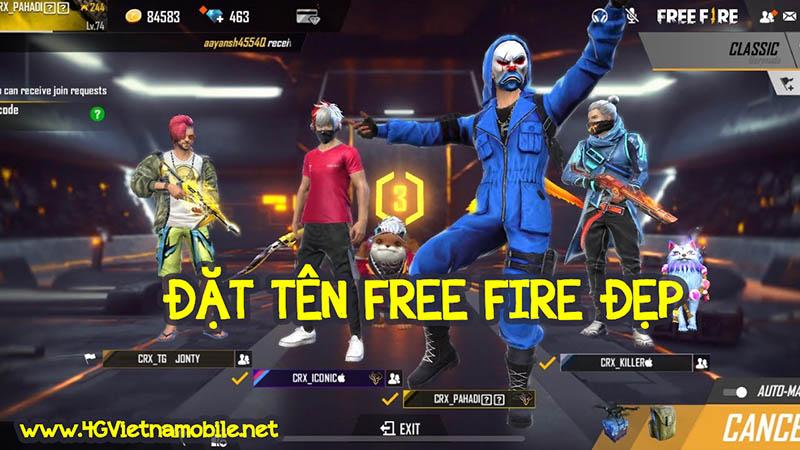 Tên Free Fire hay đẹp ❤️ Đặt tên FF Quân Đoàn bằng kí tự đặc biệt độc